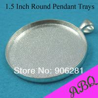38MM (1.5 inch) Blank Pendant Trays, Blank Pendant Blanks, Pendant Bases, Pendant Settings