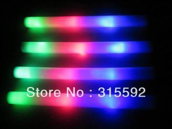 Free Shipping 100pcs/lot led flashing foam stick light cheering glow  stick for Christmas