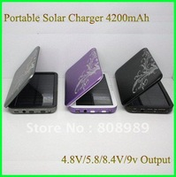 Wholesale! 4200mAh Flip Type Solar Charger For Cell phone for iphone/ Cameras/MP3/MP4/PDA Player  20pcs/lot  DHL  Free shipping