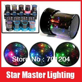 Special Offer! Nightlight The Sky Star Constellation Projector LED Star Master Asleep Lamp Night Light Free Shipping+Retail Box(China (Mainland))