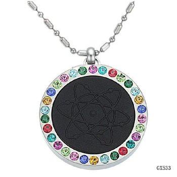 Health jewelry Quantum Pendants inlaid CZ. diamond scalar energy necklace pendants free shipping