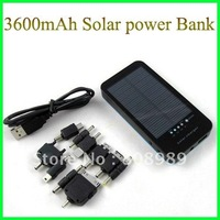 Wholesale! 10pcs/lot  Solar charger 3600mAh Solar Power Bank  with LED flash light  Solar Charger For iphone DHL  Free Shipping