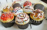 SP220  kawaii  rainbow topping cupcake squishy phone charm/mobile pendant/chain/squishy Strap/