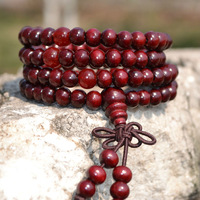6/8mm  Buddhist 108prayer beads,red wood Tibetan mala prayer beads,multilayer,necklace