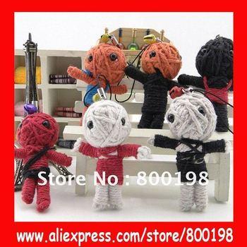 Pure handmade voodoo dolls mobile phone chain/charm,sweet keychain,bag Pendant,Wholesale