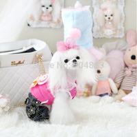 lollipop dogs coat fleece inside puppy cat pets warm winter clothesXS-XL blue pink