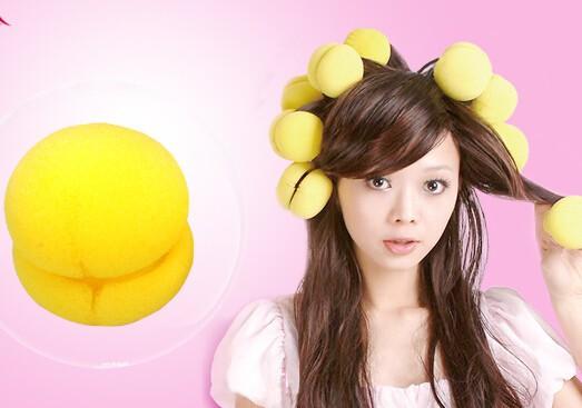 Useful Popular Magical Cake Balls Soft Sponge Hair Curler Hair Care Styling Roll Ball Roller Curler Tool whcn+(China (Mainland))