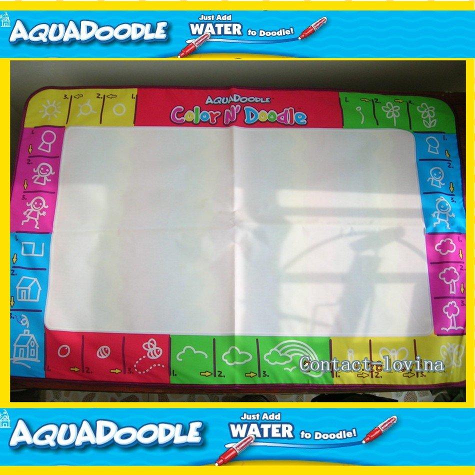 Freeship 4color8 piece Mat+ 8Pen Big size 80*56 &75*75cm American Aquadoodle Doodle Mat&1 Magic Pen/Water Drawing Replacement(China (Mainland))