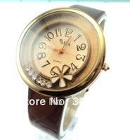 4 colors holiday sale hot sale fashion leather strap watch women ladies crystal dress quartz wrist watch