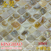 [KINGHAO] Wholesale Natural Shell Mosaic Tile Kitchen Backsplash Bath Wall Sink Spa K00076