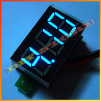 Wholesale Brand New 10pcs/lot  DC 3.0v-30V Blue Digital Voltage Panel Meter Voltmeter+Free shipping-10000325