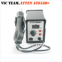 S026 ATTEN AT858D+ SMD Hot Air Rework Station Hot Blower Heat Gun 3 FREE nozzles 220V 700W