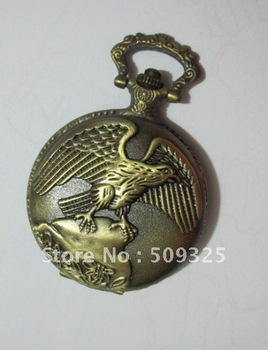 PWS027 engraved copper plated full hunter pocket watch