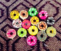 30pcs 25Styles Donut Squishy Phone Charm/Key Chain/Bag Charm, Free Shipping