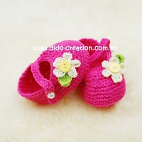 Hot Sale EMS Shipping Free 30 Pairs Handmade Crochet Baby Shoes Children Booties Cotton Shoes Flower Shoes New Year Christmas