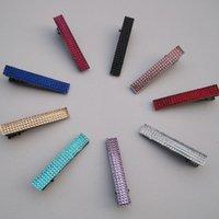 Free shipping! fashion crystal hair clip 20pcs/lot 9colors