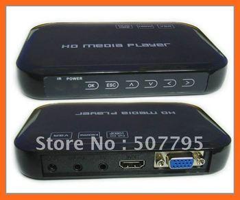 Free Shipping Cheapest USB Full HD 1080P HDD Media Player HDMI VGA MKV H.264 SD
