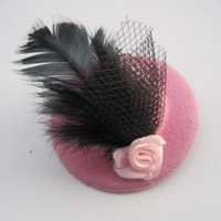 Free shipping!! Wholesale 24pcs/lot hair hat with rose hairpin hair clips part hat
