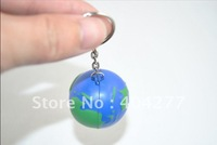 Free shipping,Earth shape soft plastic keychain,soft earth keychain,diameter:3.5cm,1.38inch,20pcs/lot
