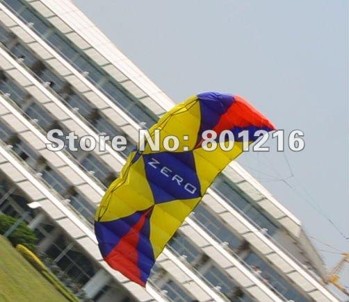 10.0sqm Zero Rainbow power kites,snow kites,foil kites+4 line carbon bar with 25m 500lbs dyneema line+leash(China (Mainland))