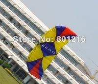 10.0sqm Zero Rainbow power kites,snow kites,foil kites+4 line carbon bar with 25m 500lbs dyneema line+leash