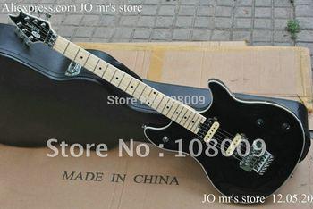 HOT SALE EVH Wolfgang Edward Van Halen guitar Black colour with Wammy Bar Vibratco electric guitar in stock free shipping