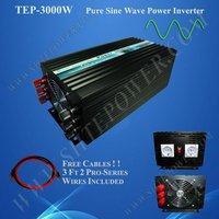 3KW DC 24v to AC 220v 3000w power inverter, true sine wave power inverter, solar invertor,Free Shipping !