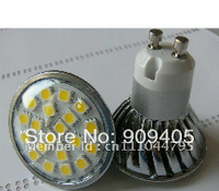 Wholesale Freeship LED Spotlights 20leds 5050 SMD LED Lights GU10 Base 4W With Glass Cover 25PCS/Lot Hot Sale