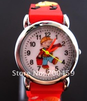 XMAS Gift  Cute New 100 pcs Children Favor BObBuilder  Wristwatch 3D Belt Kid Watch Advanced Waterproof Wristwatch