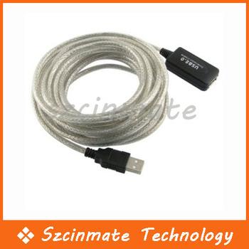 15FT 5M Active USB 2.0 Extension Repeater Cable 30pcs/lot Wholesale