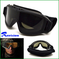 Revision Eyewear Desert Locust U.S Military Safety Protection Windproof Goggles Kits Black Free Shipping