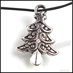 210pcs/lot Wholesale 21mm Antique Silver Christmas Tree Alloy Charms For Charm Making 141461(China (Mainland))