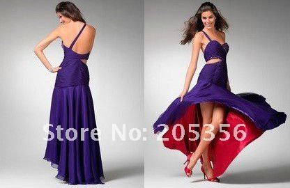 Free Shipping 100% Tailor-made Beading Sexy prom Gown