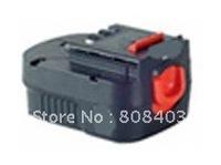 Wholesaler Power tool battery for Black&Decker  with Ni-CD cells 12V(B) 1.3Ah,1.5Ah.2.0Ah  free shipping