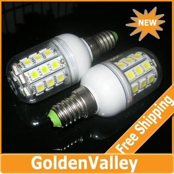E14 5.5W 3000-6500K 360-Lumen 30 x 5050 SMD LED Warm White, White Light Bulb (AC110V/220V)