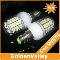 E14 5.5W 3000-6500K 360-Lumen 30 x 5050 SMD LED Warm White, White Light Bulb (AC220V)