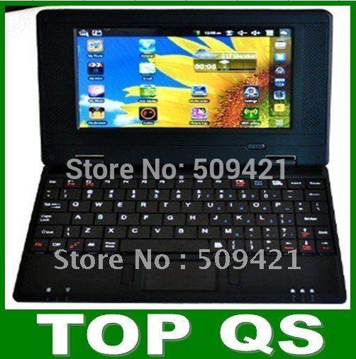 Hot! latest 7 inch Mini Netbook Laptop Notebook WIFI Windows CE 6.0 2GB HD,VIA8650, free shipping(China (Mainland))