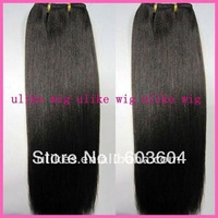 "18"" Light Yaki Malaysian virgin hair machine made weft. no tangled and shedding"