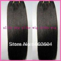 "18"" Light Yaki Malaysian virgin hair machine made weft. no tangled and shedding"