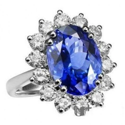 100% Same ! 925 Sterling Silver Princess Diana CZ Sapphire Ring Kate Middleton Ring Free Shipping(China (Mainland))