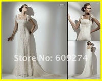 Hot Sale 2012 Custom Off The Shoulder Lace Beads Sheath Wedding Dress Princess White Wedding Dresses Bridal Gowns