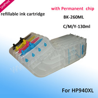 4PCS 940xl refillable Ink cartridge for Inkjet Cartridge 8000 8500 hp940 hp 940xl  with chip