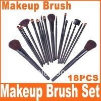 Black 18PCS Professional Makeup Brush Set, Retail, Wholesale, Free Shipping