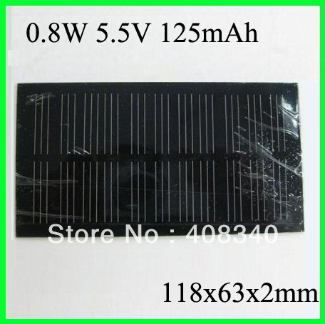 Free Shipping Solar Cell 5.5v 0.8w Solar Panel, Laminate Solar cells for DIY &amp; test(China (Mainland))