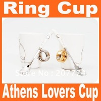 Free shipping Athens lovers ring cup mug water drink Cups Saucers ceramic coffee cup mug