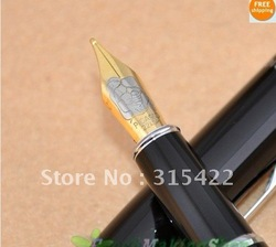 NEW-Freeshipping-Wholesale -CROCODILE SILVER FINE NIB FOUNTAIN PEN HOT-SELLING PEN(China (Mainland))