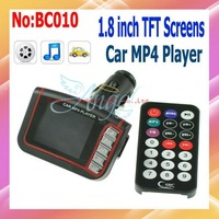 "Wholesale Car MP4 Player Car Audio 1.8"" inch LCD With built-in FM transmitter Remote Control Free shipping #BC010"