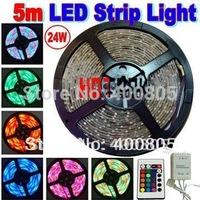 5m 3528 waterproof LED Strip RGB IP65 led stripe Light 12V 60LEDs/M indoor lighting tiras led for christmas decoration CE RoHS
