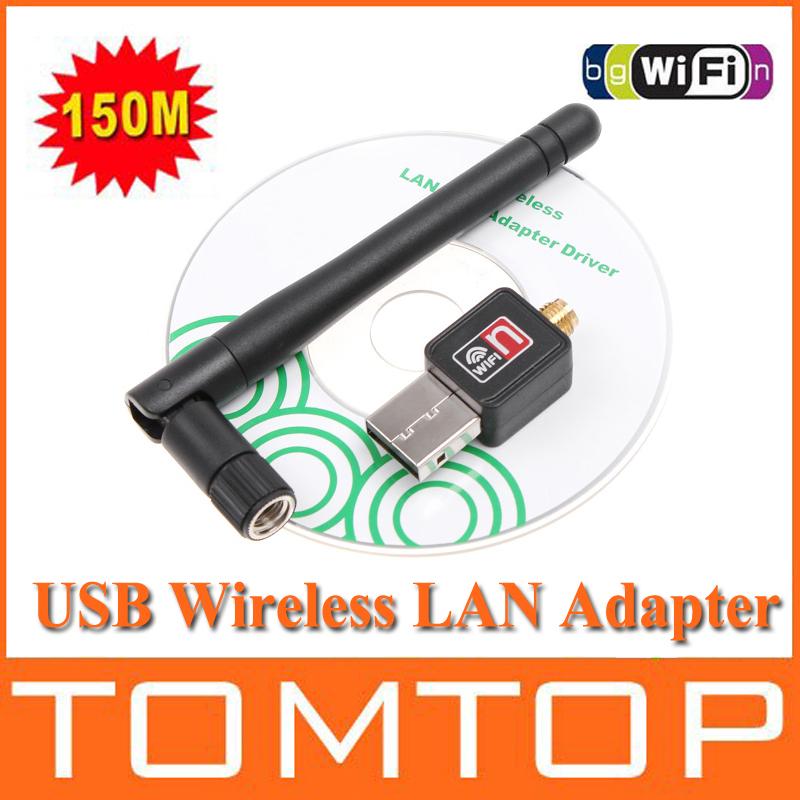 100% Original Mini 150M USB WiFi Wireless Network Networking Card LAN Adapter + Antenna Computer Accessories +Software Driver(China (Mainland))