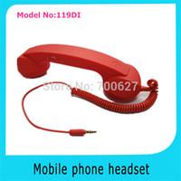 Retro Pop Wired Mobile Phone Receiver/headphone